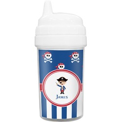 Blue Pirate Toddler Sippy Cup (Personalized)