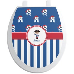 Blue Pirate Toilet Seat Decal (Personalized)