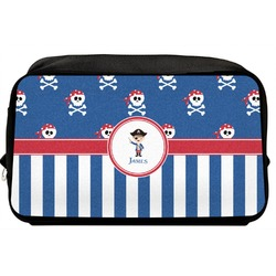 Blue Pirate Toiletry Bag / Dopp Kit (Personalized)