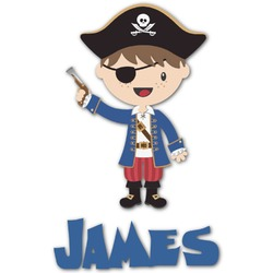 Blue Pirate Graphic Decal - Custom Sizes (Personalized)