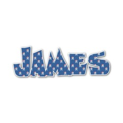 Blue Pirate Name/Text Decal - Custom Sized (Personalized)