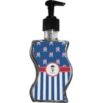Blue Pirate Wave Bottle Soap / Lotion Dispenser (Personalized)