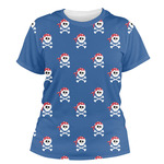 Blue Pirate Women's Crew T-Shirt (Personalized)