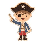 Blue Pirate Genuine Wood Sticker (Personalized)