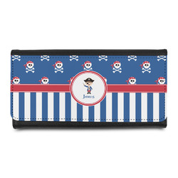 Blue Pirate Leatherette Ladies Wallet (Personalized)