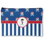 Blue Pirate Zipper Pouch (Personalized)