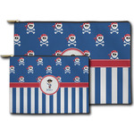 Blue Pirate Zipper Pouch (Personalized)