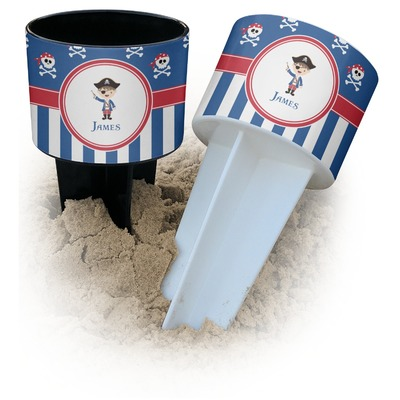 Blue Pirate Beach Spiker Drink Holder (Personalized)