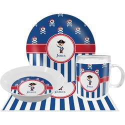 Blue Pirate Dinner Set - 4 Pc (Personalized)