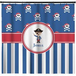 Blue Pirate Shower Curtain (Personalized)