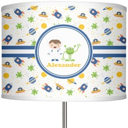 "Boy's Space Themed 13"" Drum Lamp Shade (Personalized)"