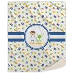 Boy's Space Themed Sherpa Throw Blanket (Personalized)