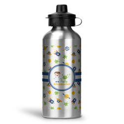 Boy's Space Themed Water Bottle - Aluminum - 20 oz (Personalized)