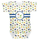Boy's Space Themed Baby Bodysuit (Personalized)