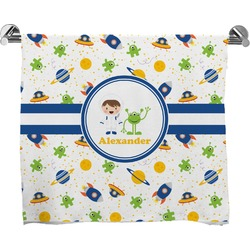 Boy's Space Themed Full Print Bath Towel (Personalized)