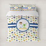 Boy's Space Themed Duvet Cover (Personalized)