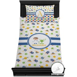 Boy's Space Themed Duvet Cover Set - Toddler (Personalized)