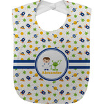 Boy's Space Themed Jersey Knit Baby Bib w/ Name or Text