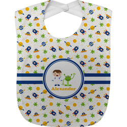 Boy's Space Themed Baby Bib (Personalized)