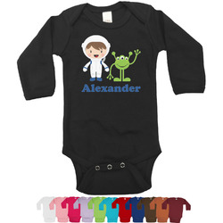 Boy's Space Themed Bodysuit - Black (Personalized)