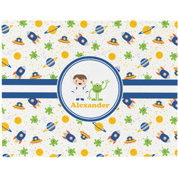 Boy's Space Themed Placemat (Fabric) (Personalized)