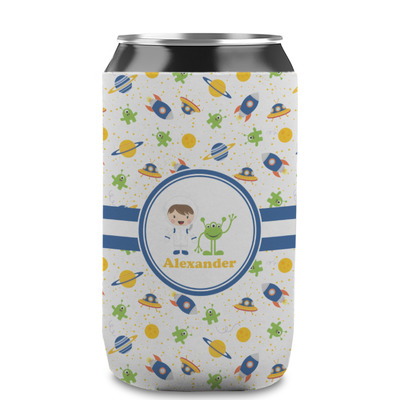 Boy's Space Themed Can Sleeve (12 oz) (Personalized)
