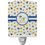 Boy's Space Themed Ceramic Night Light (Personalized)