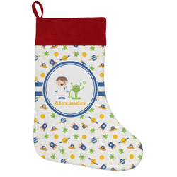 Boy's Space Themed Holiday / Christmas Stocking (Personalized)