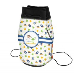 Boy's Space Themed Neoprene Drawstring Backpack (Personalized)