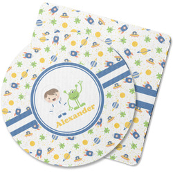 Boy's Space Themed Rubber Backed Coaster (Personalized)
