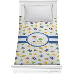 Boy's Space Themed Comforter - Twin (Personalized)