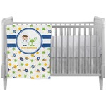 Boy's Space Themed Crib Comforter / Quilt (Personalized)