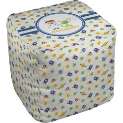 Boy's Space Themed Cube Pouf Ottoman (Personalized)