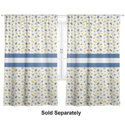 "Boy's Space Themed Curtains - 20""x84"" Panels - Lined (2 Panels Per Set) (Personalized)"
