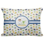 """Boy's Space Themed Decorative Baby Pillowcase - 16""""x12"""" (Personalized)"""