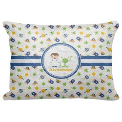 "Boy's Space Themed Decorative Baby Pillowcase - 16""x12"" (Personalized)"