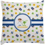 Boy's Space Themed Decorative Pillow Case (Personalized)