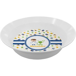 Boy's Space Themed Melamine Bowl (Personalized)