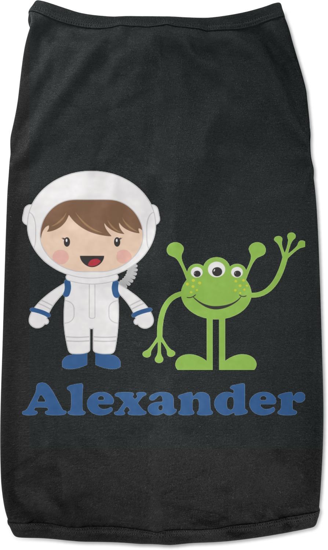 Boy S Space Themed Black Pet Shirt Multiple Sizes