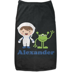 Boy's Space Themed Black Pet Shirt - Multiple Sizes (Personalized)