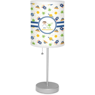 """Boy's Space Themed 7"""" Drum Lamp with Shade (Personalized)"""