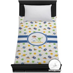 Boy's Space Themed Duvet Cover - Twin (Personalized)