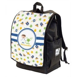 Boy's Space Themed Backpack w/ Front Flap  (Personalized)