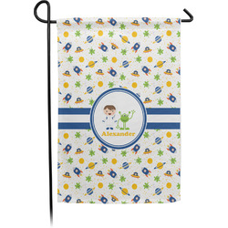 Boy's Space Themed Garden Flag - Single or Double Sided (Personalized)
