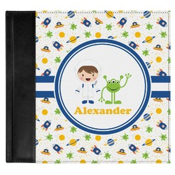 Boy's Space Themed Genuine Leather Baby Memory Book (Personalized)