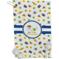 Boy's Space Themed Golf Towel - Full Print (Personalized)