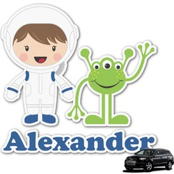 Boy's Space Themed Graphic Car Decal (Personalized)