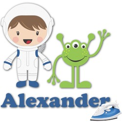 """Boy's Space Themed Graphic Iron On Transfer - Up to 6""""x6"""" (Personalized)"""