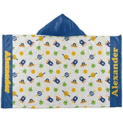 Boy's Space Themed Kids Hooded Towel (Personalized)