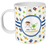 Boy's Space Themed Kid's Mug - Plastic (Personalized)